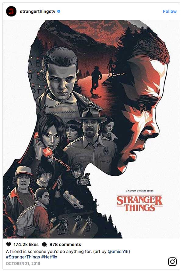 Stranger Things 2 Poster by Amien15 on Instagram