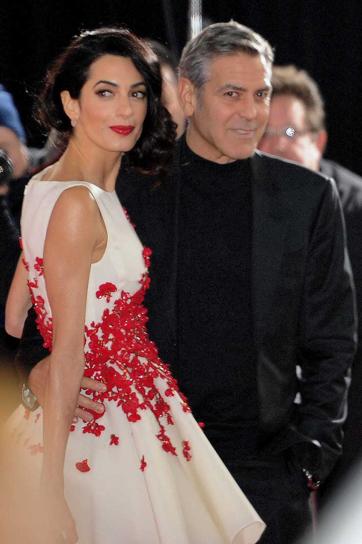Amal Clooney Steals The Spotlight In Yves Saint Laurent Gown