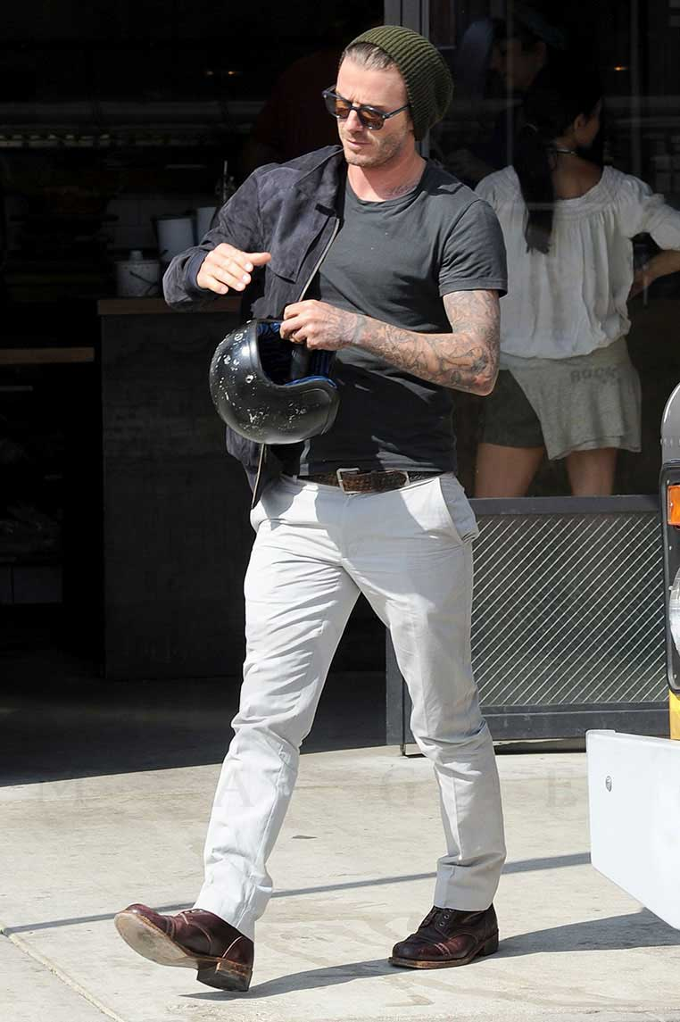 Easy Rider David Beckham Cruises Around La On Custom
