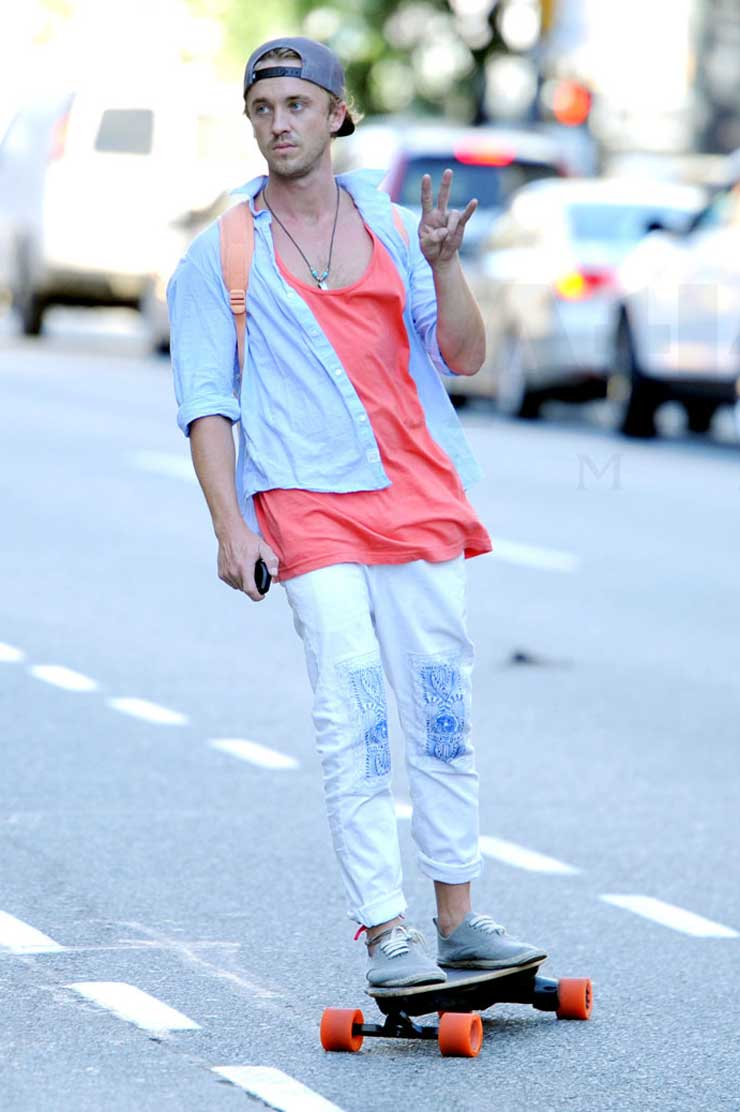 Tom Felton and Converse Star Player S Mid Skate (#1097923