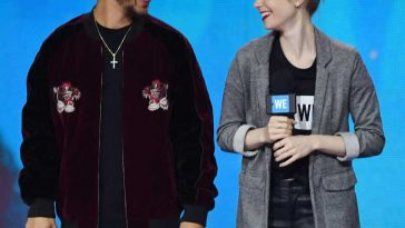 Hamilton star Jordan Fisher and Lily Collins Have fun at We Day Seattle
