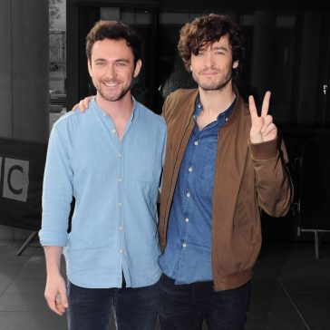 Versailles Stars Alex Vlahos and George Blagden in Manchester © Atlantic Images