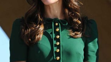 Kate Middleton Ray-ban Wayfarer Dolce Gabbana Green Dress Canada Tour