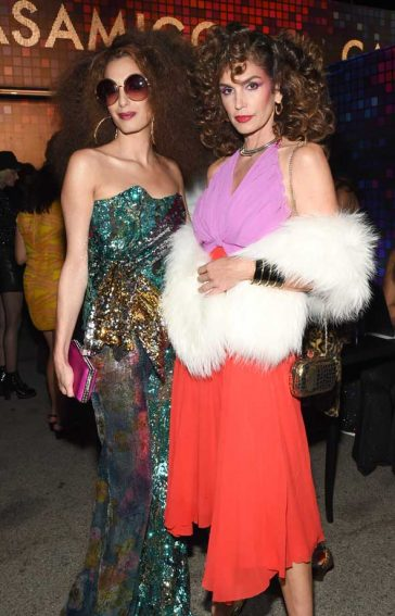 Amal Clooney (L) and Cindy Crawford Casamigo Halloween Party Halloween Costume 70s Costume