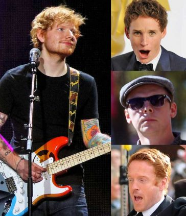 The Ed Sheeran Effect Helping More Ginger Men Get Lucky With The Ladies Simon Pegg Eddie Redmayne Damien Lewis on list