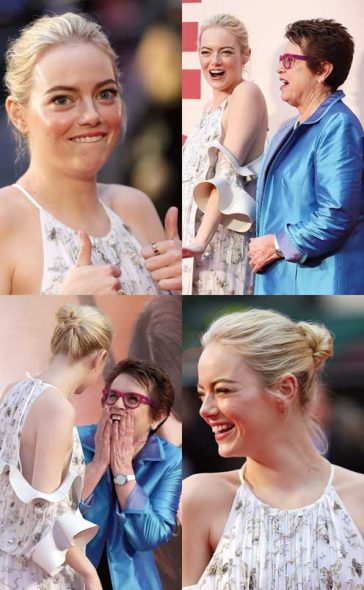 Emma Stone Premiere Louis Vuitton Deal Louis Vuitton Ring Battle Of The Sexes BFI Film Festival London Billie Jean King Tennis Movie