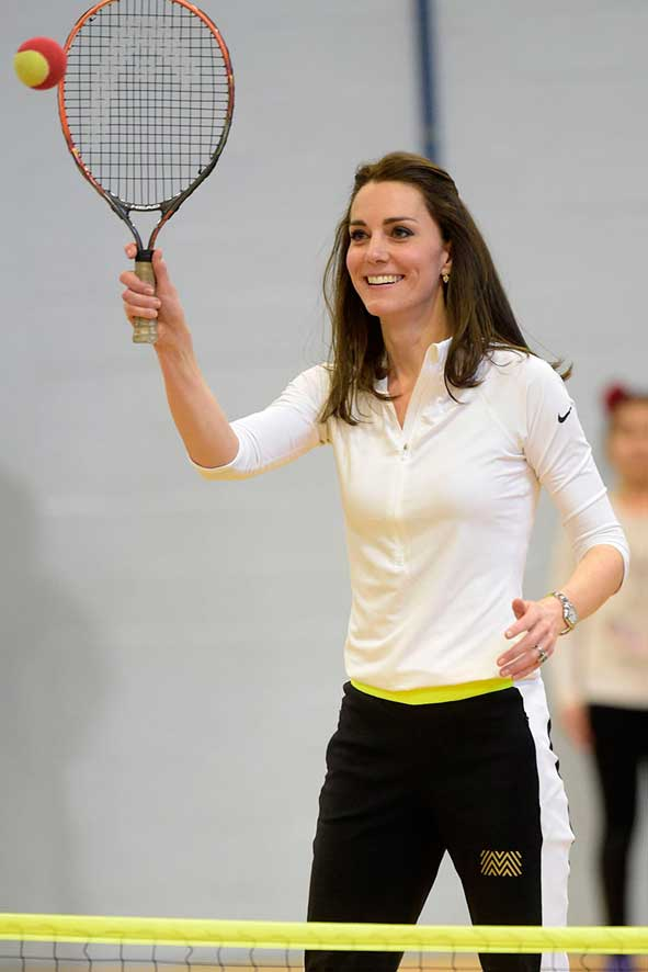 Kate Middleton Playing Tennis Tennis on the Road