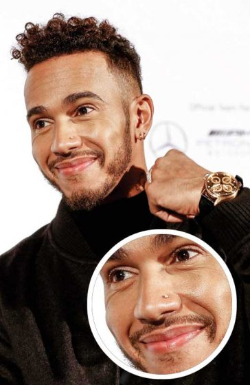 Lewis Hamilton Fashion Hair Hugo Boss KaDeWe Germany Nose Piercing
