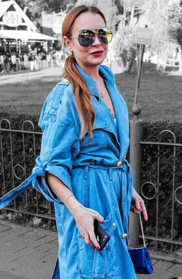 Lindsay Lohan Denim Dress