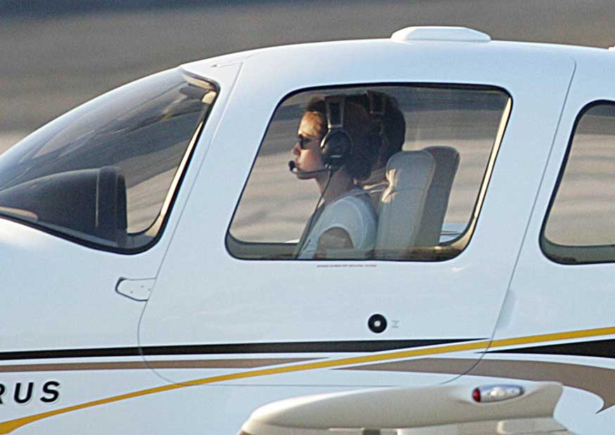 high flyer angelina jolie spotted flying her plane over los angeles