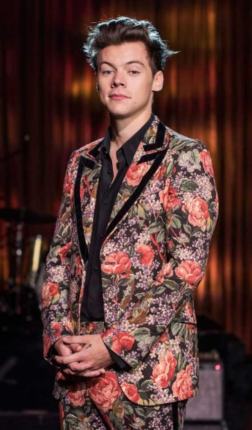 Harry Styles Floral Suit Gucci Cruise 2018 BBC Performance