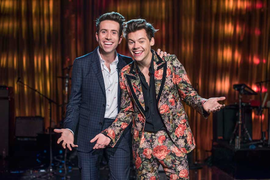 1c1903e3a3589 Harry Styles  Floral Suit From His BBC Show Is From The Gucci Cruise ...