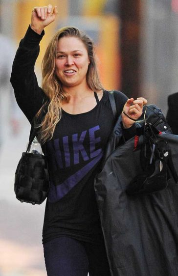 Ronda Rousey Nike Tee Jimmy Kimmel Live Hollywood Los Angeles UFC Fighter