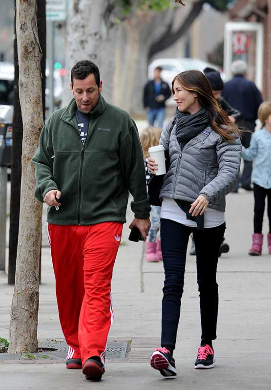 Adam Sandler and Wife Jackie Enjoy Lunch Date in Brentwood