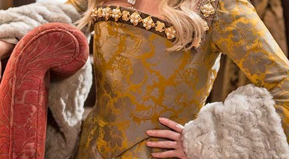 Emma Bunton plays Queen Anne Boleyn alongside Tim vine as a jester in a Christmas Special -Photo courtesy of © BBC / Baby Cow / Gary Moyes