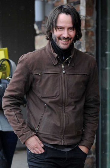 Keanu Reeves flashes a smile as he was spotted out and about at the Sundance Film Festival © Atlantic Images