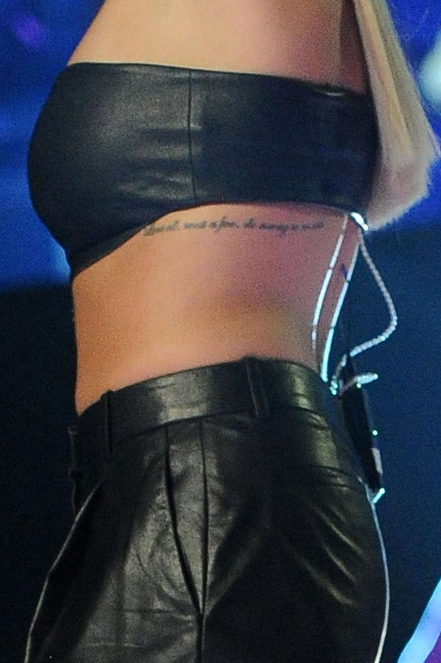 873fac53723 Rita Ora showed off Cleavage in leather crop top and KLS leather trousers  showing off her