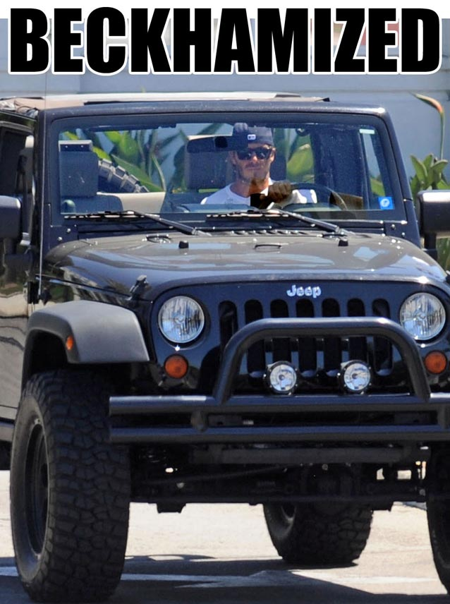 David Beckham Spotted In Custom Monster-Sized Jeep Wrangler ...