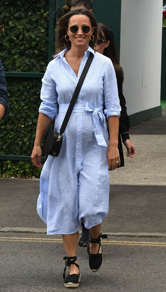 82e4034928a25 A Pregnant Pippa Middleton Shows Off Her Bump + Sister Kate's Prince Louis  Christening! 👶🏻