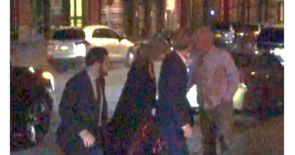 Joe Alwyn led the way holding hands with Taylor Swift in Tribeca New York © The Mega Agency