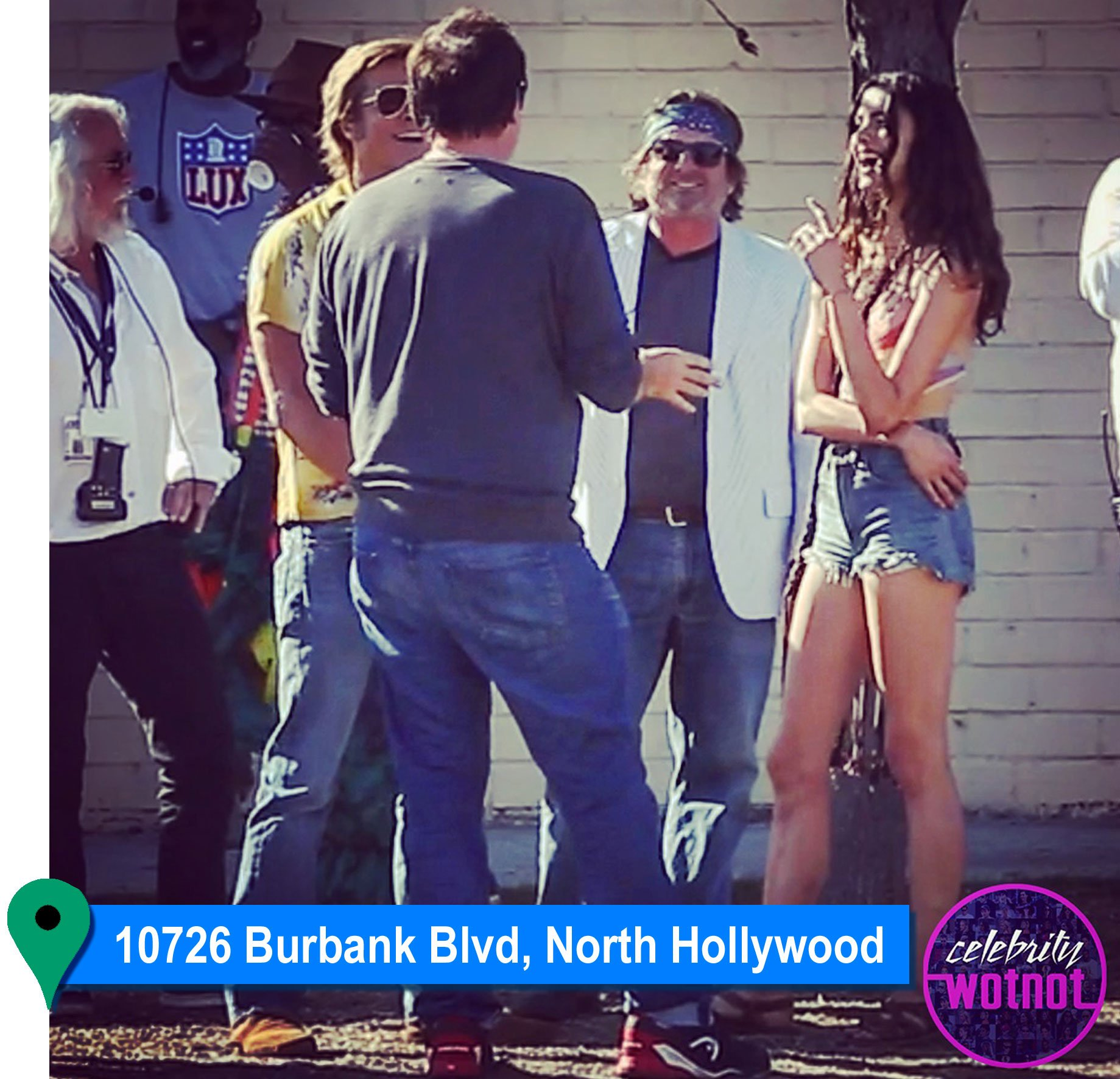 Once Upon A Time In Hollywood: FILMING LOCATION: Margaret Qualley Hitchhiking Dance Scene